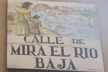 Placa Calle Mira el Rio Baja – sm